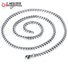 [Z-MO鈦鋼屋]316L鈦鋼/方珍珠鍊/單鏈子/配墜鍊子款式/不生鏽防過敏/單條價【DKS744】