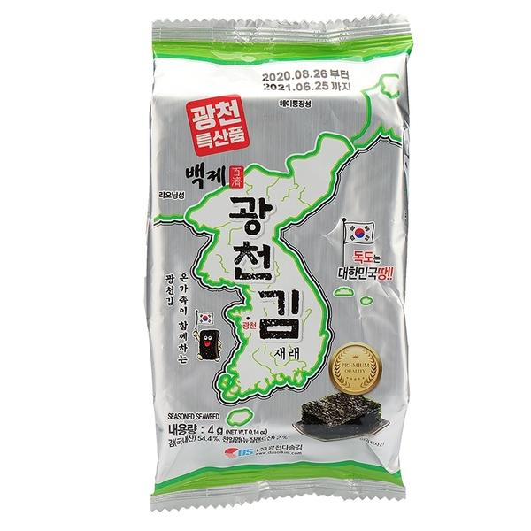 韓國廣川傳統烤海苔 單包4g 【庫奇小舖】