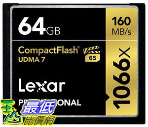 [106美國直購] 存儲卡 Lexar Professional 1066x 64GB VPG-65 CompactFlash card Image Rescue 5 Software LCF64GCRBNA1066