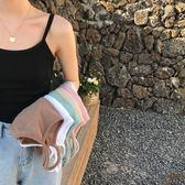 2018新款顯瘦針織吊帶背心韓版百搭打底衫內搭上衣學生女夏外穿