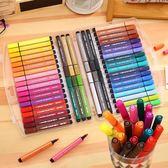 [送圖畫本]得力水彩筆48色可水洗彩筆三角桿36色畫筆彩筆套裝618好康又一發