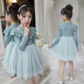 兒童連身裙 春裝秋新款兒童裝女童連身裙子寶寶公主超洋氣禮服小女孩蓬蓬 新品