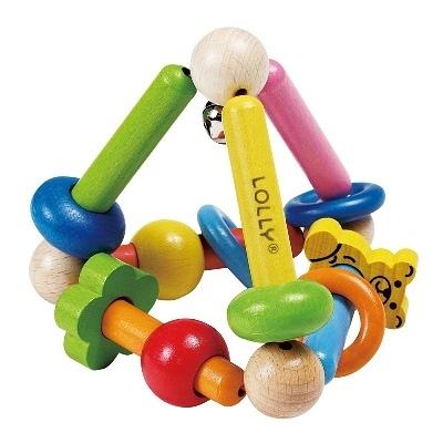 【佳兒園婦幼館】LOLLY 木製玩具-耀眼錐形手搖鈴