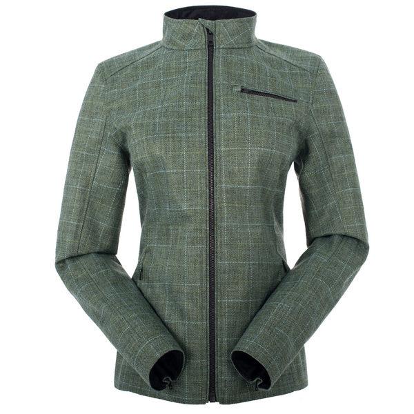 【聖伯納St. Bonalt】女-短版英倫風時尚防水機能風衣(0176)-青綠格 防寒外套 保暖 登山 戶外 防風