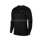 Nike 長袖T恤 AS M NK Dry Miler Top 黑 銀 男款 跑步上衣 Dry-FIT 【PUMP306】 AJ7569-010