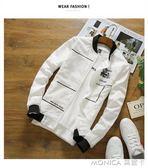 春季新款男士休閒外套韓版修身運動夾克衫潮流青年棒球服學生外衣 莫妮卡小屋