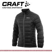 【CRAFT 瑞典 男 輕量羽絨外套《黑》】1902294/防水/防風/保暖外套/登山外套