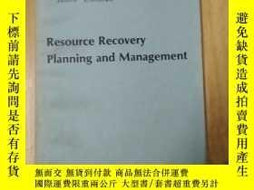 二手書博民逛書店resource罕見recovery planning and management(京)Y179933 見圖