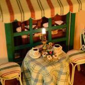 咖啡吧diy小屋手拼裝房子別墅模型玩具創意生日禮物男女生WY