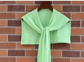 春夏季保暖護頸椎純色假領子潮裝飾打結圍巾綁帶系帶小披肩袖子搭