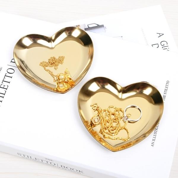 北歐風ins心型首飾戒指收納盤托盤展示盤點心盤 拍照道具【Z90205】