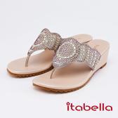 itabella.典雅水鑽造型人字拖鞋(0323-05裸色)
