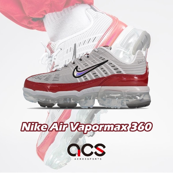 【三折特賣】Nike 慢跑鞋 Wmns Air Vapormax 360 灰 紅 女鞋 經典款 合體系列 運動鞋 【ACS】 CK2719-001