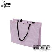 手提袋-編織袋(L)-粉紫白-01C