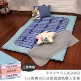 雙人床墊 日式床墊 學生床墊《7cm馬賽克日式舒適透氣雙人床墊》-台客嚴選