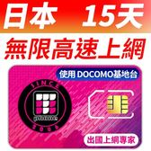 【TPHONE上網專家】日本DOCOMO 15天無限上網卡 每天300MB 4G高速上網 當地原裝卡
