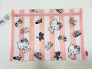 【震撼精品百貨】Hello Kitty 凱蒂貓~Hello Kitty 凱蒂貓化妝包-扁平摩登粉