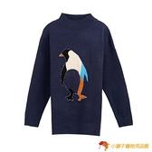 大碼女裝胖韓版半高領針織衫素色企鵝毛衣寬松慵懶大號【小獅子】