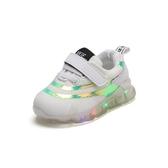 春秋男童女童帶亮燈寶寶鞋子女1-2歲軟底嬰幼兒學步鞋小童運動鞋3 海港城