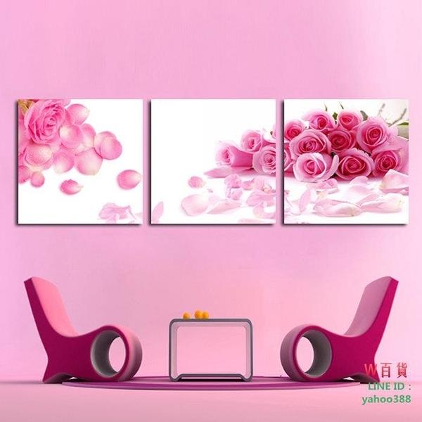 裝飾畫 無框畫 版畫 壁畫  粉紅玫瑰(W120)