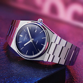 TISSOT天梭 PRX 系列 70年代復刻石英錶-銀x藍/40mm(T1374101104100)