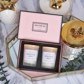 香薰蠟燭禮盒臥室精油香氛蠟燭歐式浪漫香薰生日家用