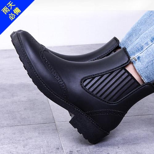 女款 防水防滑牛津雕花切爾西 雨鞋 短筒雨靴 牛津雨靴 防水鞋 牛津鞋 59鞋廊