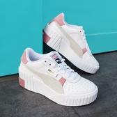 【折後$3180再送贈品】PUMA Cali Wedge Mix Wns 白 粉紅 女鞋 增高 厚底 皮革 運動鞋 休閒 37390602
