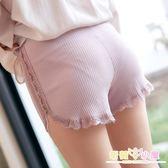 安全褲防走光女夏純棉不卷邊可外穿打底褲內搭蕾絲保險褲薄款大碼