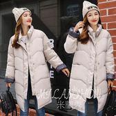 羽絨外套 冬季新款韓版學生中長款棉服寬松大碼加厚羽絨棉服 米蘭shoe