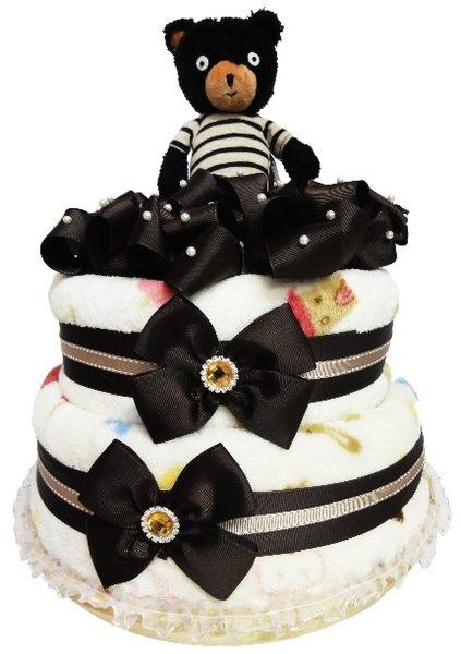 娃娃屋樂園~Le Sucre法國砂糖熊尿布蛋糕-巧克力色 每組2299元/生日蛋糕/彌月禮滿月禮週歲禮