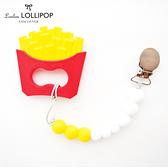 【加拿大Loulou lollipop】黃金脆薯固齒器組/奶嘴鍊夾 #LOU005001