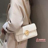 小方包 高級感包包洋氣女包新款2019潮韓版質感斜背包時尚鍊條單肩小方包 4色