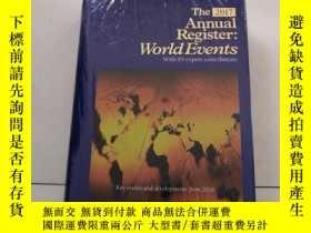 二手書博民逛書店The2017罕見Annual Register:World E