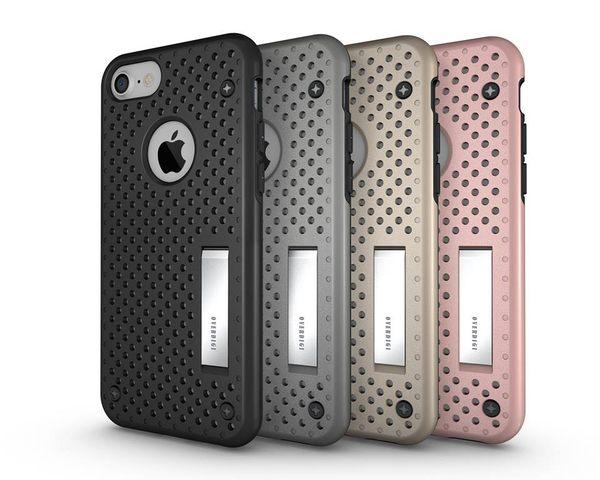 [富廉網] OVERDIGI iPhone 7 4.7吋 可立式全包覆防摔保護殼 玫瑰金