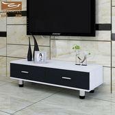 簡易電視櫃茶几組合現代簡約小戶型臥室電視機櫃迷你客廳地櫃 萬聖節