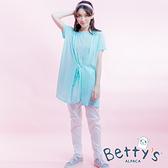 betty's貝蒂思 異材質拼接彈性窄管褲(白色)