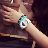 [24hr 火速出貨] 手錶 黑白 簡約 日本 原宿 男女 韓國 復古 潮流 時尚 學生 情侶 送禮 個性 百搭