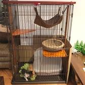 寵物籠 貓咪雙層貓籠子實木貓別墅家用木制三層大號貓舍貓窩室內小型貓屋WD 晴天時尚館