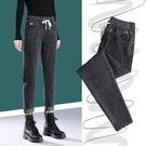 高腰牛仔褲女寬鬆哈倫2021春裝新款超顯瘦鬆緊腰大碼蘿卜老爹褲子 黛尼時尚精品