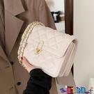 小方包 流行鍊條側背包包女2021新款潮時尚網紅腋下小方包百搭斜背包寶貝計畫 上新