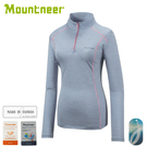 【Mountneer 山林 女 膠原蛋白長袖排汗衣《淺藍》】31P66/排汗衣/夏款/薄長袖/排汗衣