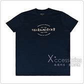 COACH白字印花LOGO花朵刺繡設計純棉短袖T恤(亮海軍藍)