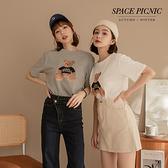 上衣 Space Picnic|小熊圖短袖上衣-2色(預購)【C21102015】