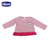 chicco-To Be Baby-長袖條紋上衣-紅白條紋