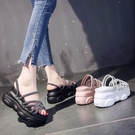 增高涼鞋 外穿涼拖鞋珍珠時尚夏新款兩穿涼鞋厚底鬆糕內增高拖鞋女-Ballet朵朵