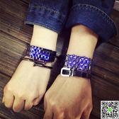 情侶手錶韓版潮表個性創意led發光學生時尚復古手鍊男表女exo情侶電子手錶 CY潮流站