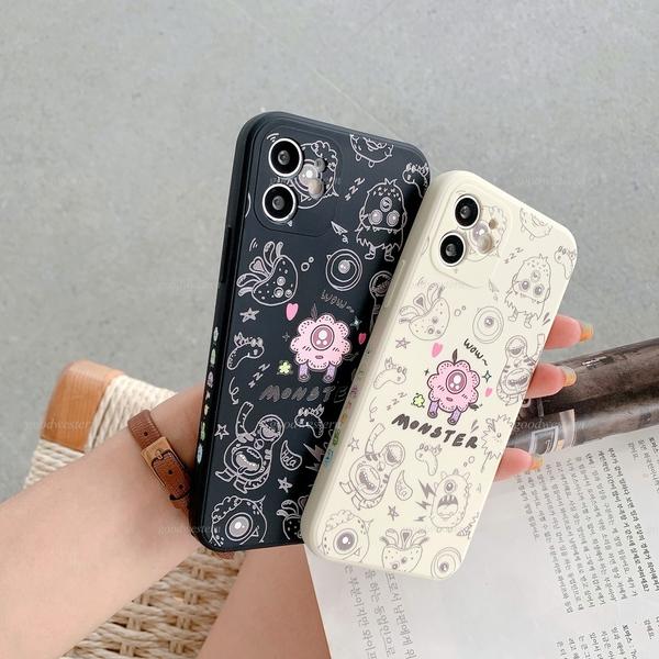 側邊卡通火箭太空人 iphone 12 11 Pro Xs Max XR SE i8 i7 i6sPlus 液態防摔手機殼套