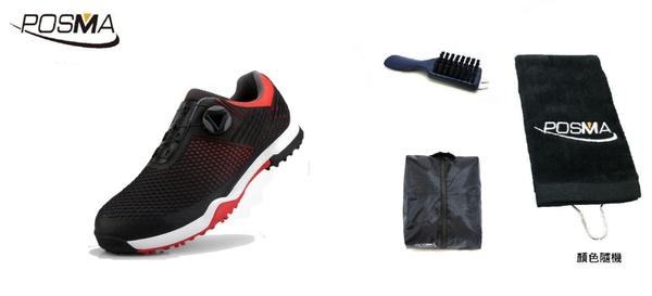 高爾夫男士防水運動鞋 緩震鞋底春夏男鞋 golf shoes GSH112BRED