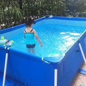 游泳池 家庭泳池寶寶游泳池家用成人超大號加厚支架水池免充氣兒童游泳池 米蘭街頭IGO